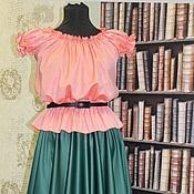 Одежда handmade. Livemaster - original item Retro blouse coral. Handmade.