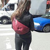 Классическая сумка ручной работы. Ярмарка Мастеров - ручная работа Кожаная сумка на спину. Handmade.