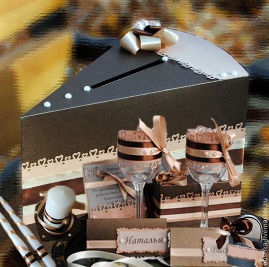 Свадебные аксессуары ручной работы. Ярмарка Мастеров - ручная работа. Купить Оформление праздника в стиле Шоколад Для свадьбы Для стола. Handmade.
