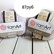 Материалы для творчества ручной работы. Ярмарка Мастеров - ручная работа пряжа YarnArt Jeans. Handmade.