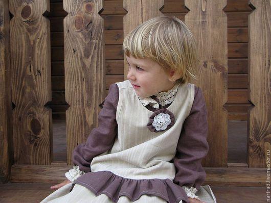 Одежда для девочек, ручной работы. Ярмарка Мастеров - ручная работа. Купить Сарафан-бохо Барышня. Handmade. Бежевый, бохо-стиль