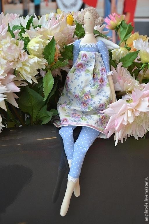 Куклы Тильды ручной работы. Ярмарка Мастеров - ручная работа. Купить Кукла тильда Цветочная фея. Handmade. Голубой