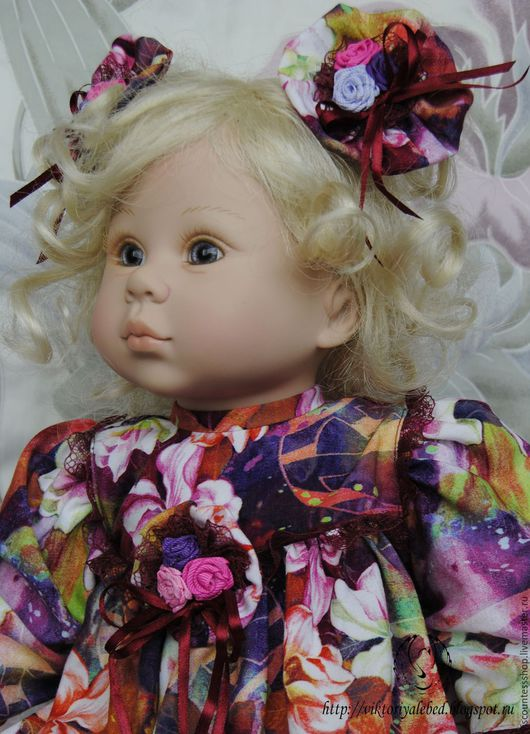 """Одежда для кукол ручной работы. Ярмарка Мастеров - ручная работа. Купить Платье """"Цветы жизни"""".. Handmade. Комбинированный, цветы"""