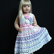 Работы для детей, handmade. Livemaster - original item sundress for girls a Bouquet of Roses. Handmade.
