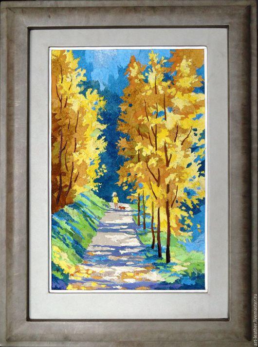 """Пейзаж ручной работы. Ярмарка Мастеров - ручная работа. Купить """"Краски осени..."""". Handmade. Яркая осень, уникальный подарок"""
