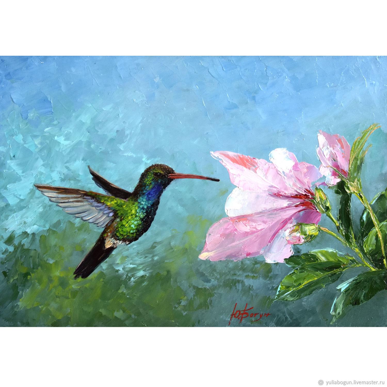 Oil painting Hummingbird Bird ' Energy of Movement', Pictures, Belorechensk,  Фото №1