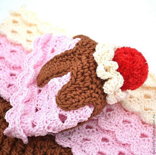 Для новорожденных, ручной работы. Ярмарка Мастеров - ручная работа. Купить Мороженое кокон + шапочка для фотосессий новорожденной, 100% хлопок. Handmade.