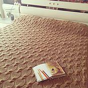 """Для дома и интерьера ручной работы. Ярмарка Мастеров - ручная работа Вязаный плед """"Gold"""". Handmade."""