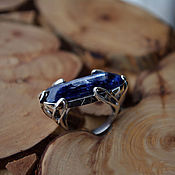 Украшения handmade. Livemaster - original item Runic ring with kyanite. Handmade.