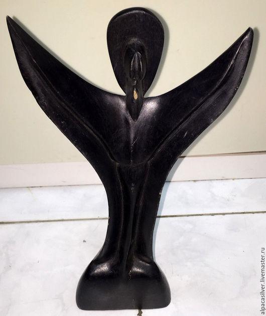 Статуэтки ручной работы. Ярмарка Мастеров - ручная работа. Купить Ангел чёрный, статуэтка вырезанная из дерева. Handmade. Черный