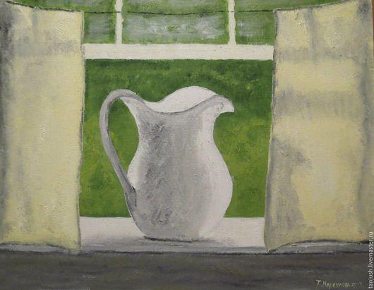 """Натюрморт ручной работы. Ярмарка Мастеров - ручная работа. Купить Картина """"Кувшин"""". Handmade. Белый, картина, шебби-шик, прованс"""