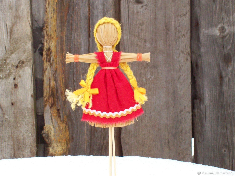 Масленица -  чучело сувенирное рост 15 см, Народная кукла, Москва,  Фото №1