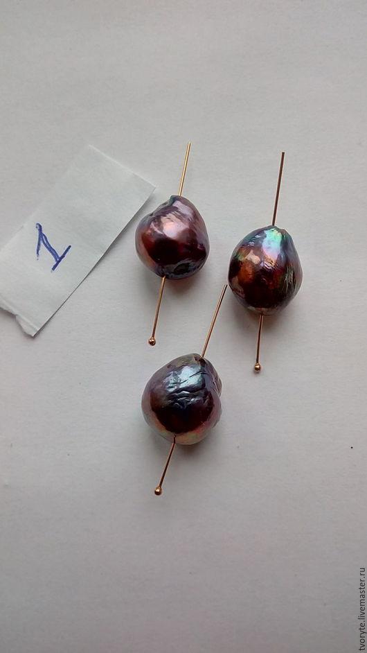 Для украшений ручной работы. Ярмарка Мастеров - ручная работа. Купить Крупный жемчуг Касуми аналог комплект 3 шт. Handmade.