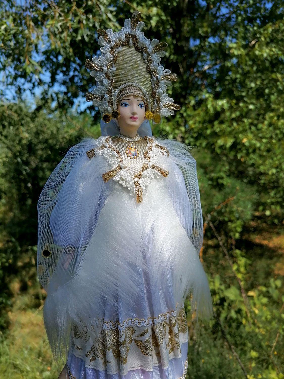Царевна-Лебедь кукла фарфоровая в русском сказочном стиле, Интерьерная кукла, Санкт-Петербург,  Фото №1