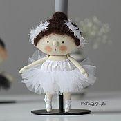 Мягкие игрушки ручной работы. Ярмарка Мастеров - ручная работа Кукла Балерина маленькая Кукла текстильная. Handmade.