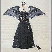 Куклы и игрушки ручной работы. Ярмарка Мастеров - ручная работа Малефисента - фея Зачарованного леса, текстильная кукла в стиле Тильда. Handmade.