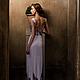"""Платья ручной работы. Заказать Платье с вышивкой из коллекции """"Дым"""". Ирловин. Ярмарка Мастеров. Вечернее платье, вырез на спине, свадьба"""