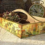 """Для дома и интерьера ручной работы. Ярмарка Мастеров - ручная работа Лоток """"Под щедрым солнцем"""". Handmade."""