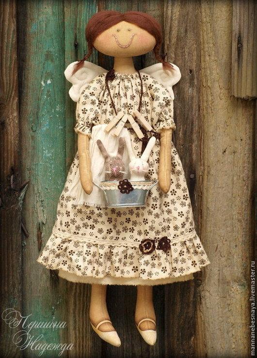 Ароматизированные куклы ручной работы. Ярмарка Мастеров - ручная работа. Купить Хозяюшка. Фея чистоты и порядка. Кофейный ангел.. Handmade.