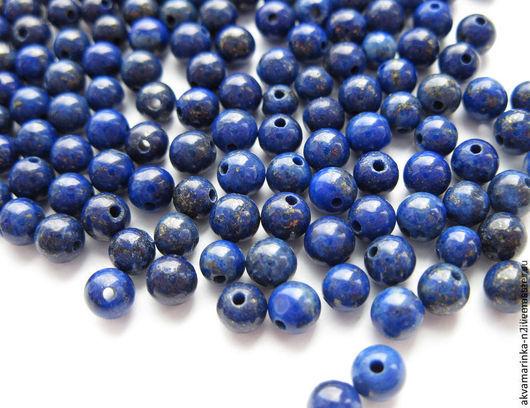 Для украшений ручной работы. Ярмарка Мастеров - ручная работа. Купить Лазурит. Бусины 4 мм, синий, по 10 штук.. Handmade.
