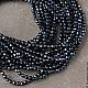 Для украшений ручной работы. Ярмарка Мастеров - ручная работа. Купить Оникс черный, нить из граненых бусин диаметром 2 мм. Handmade.