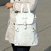 Сумки и аксессуары handmade. Livemaster - original item Backpack female leather white poplar down Mod R13-141. Handmade.