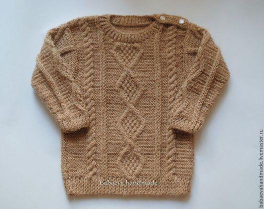 Одежда унисекс ручной работы. Ярмарка Мастеров - ручная работа. Купить Пуловер с аранами (разные цвета). Handmade. Свитер из шерсти