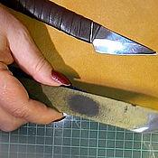 Украшения ручной работы. Ярмарка Мастеров - ручная работа Видео мастер класс.  Как отшерфовать кожу. Заточка ножа. Где купить .. Handmade.