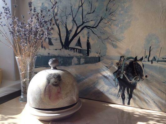 """Кухня ручной работы. Ярмарка Мастеров - ручная работа. Купить Продана! Хлебница круглая """" мой милый ангел"""". Handmade."""