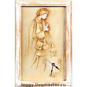 """Для дома и интерьера ручной работы. Ярмарка Мастеров - ручная работа Часы """"Утренний ангел"""". Handmade."""