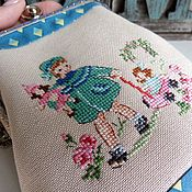 Сумки и аксессуары handmade. Livemaster - original item Baby handbag with clasp hand cross stitch Girl. Handmade.