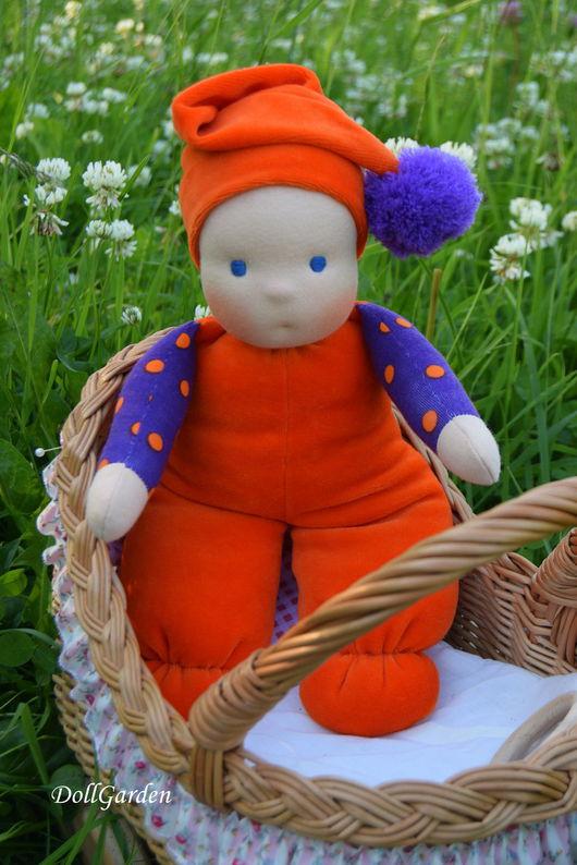 Вальдорфская игрушка ручной работы. Ярмарка Мастеров - ручная работа. Купить Рыжий Мультик, вальдорфская куколка, погремушка.. Handmade. Рыжий