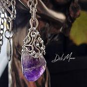 Украшения handmade. Livemaster - original item Purple amethyst stone pendant