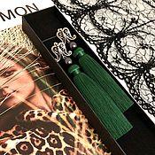 Украшения handmade. Livemaster - original item Earrings-brush Mysterious forest emerald green malachite silver. Handmade.