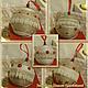 Новогодние елочные шарики, 10 штук, ручная работа, экостиль.