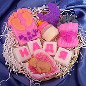 Мыло ручной работы. Ярмарка Мастеров - ручная работа Именной набор, детский подарок, подарок новорожденным.. Handmade.