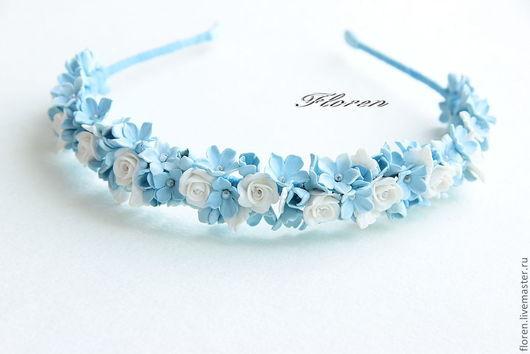 Tiaras & Headbands handmade. Livemaster - handmade. Buy Bezel 'Tenderness'.Headbands, white roses, headband with flowers, gift