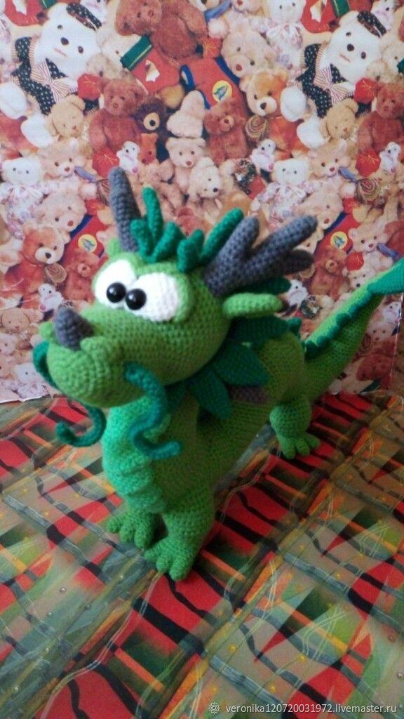 Игрушки: Дракон большой, Мягкие игрушки, Санкт-Петербург,  Фото №1