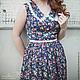 Платья ручной работы. Заказать Цветное платье с воротником.. 'MAIDEN  BAZAR'  creative workshop. Ярмарка Мастеров. Платье повседневное