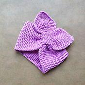 Bandage handmade. Livemaster - original item Knitted bandage straw (lilac). Handmade.