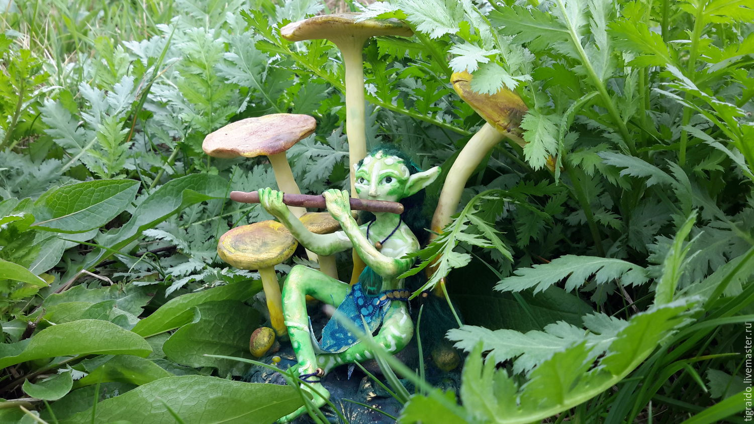 The fairy piper and the mushrooms, Stuffed Toys, Moscow,  Фото №1
