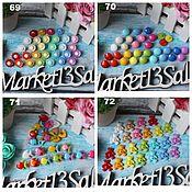 Материалы для творчества handmade. Livemaster - original item Plastic and wooden buttons 4. Handmade.