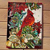 Картины и панно handmade. Livemaster - original item Ceramic tile with stained glass painting. Handmade.