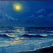 """Картины и панно ручной работы. Ярмарка Мастеров - ручная работа Картина """"Лунный свет"""". Handmade."""