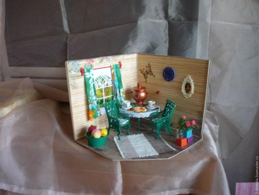 """Кукольный дом ручной работы. Ярмарка Мастеров - ручная работа. Купить Румбокс """" Изумрудное лето"""". Handmade. Комбинированный, пластик"""
