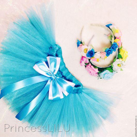Одежда для девочек, ручной работы. Ярмарка Мастеров - ручная работа. Купить Цветочный комплект (юбка-пачка, ободок с цветами). Handmade.