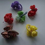 """Украшения ручной работы. Ярмарка Мастеров - ручная работа Резиночки для волос,в садик,школу """"Розочки"""". Handmade."""