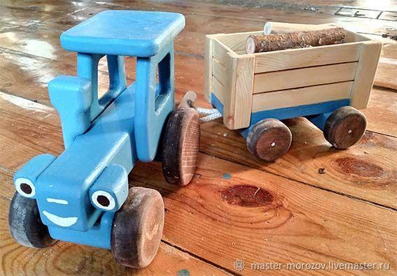 Синий трактор, Вальдорфская игрушка, Иркутск, Фото №1