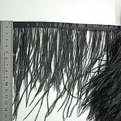 handmade. Livemaster - original item Trim of ostrich feathers 10-15 cm black. Handmade.