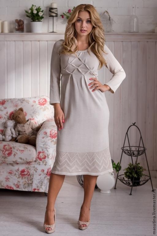 Вязаное платье для беременной